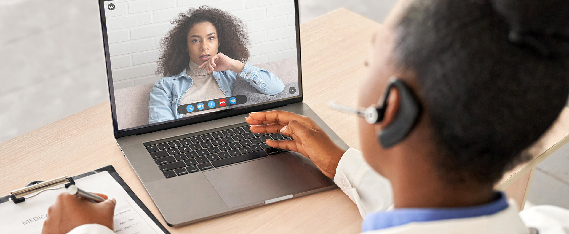portrait of a video call